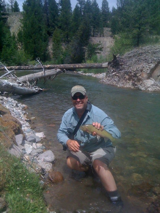Fly fisherman holding a nice cutthroat trout from an Idaho stream This is a sneaky thing that has bitten me in the rear before. Not everyone is an expert fly fisherman. We all learn from watching and asking those that we choose to fish with. There are certain knowledge points however, that should be known by everyone who claims to know how to strip line (another term to test for) from a fly reel.