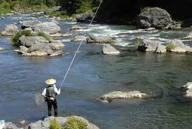 A Japanese Tenkara fisherman