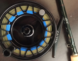 A Galvan Brookie fly reel with a Wulff line on it