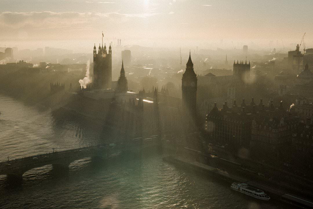 London Skyline from the London Eye Laura Babb Photography Always Andri wedding planner