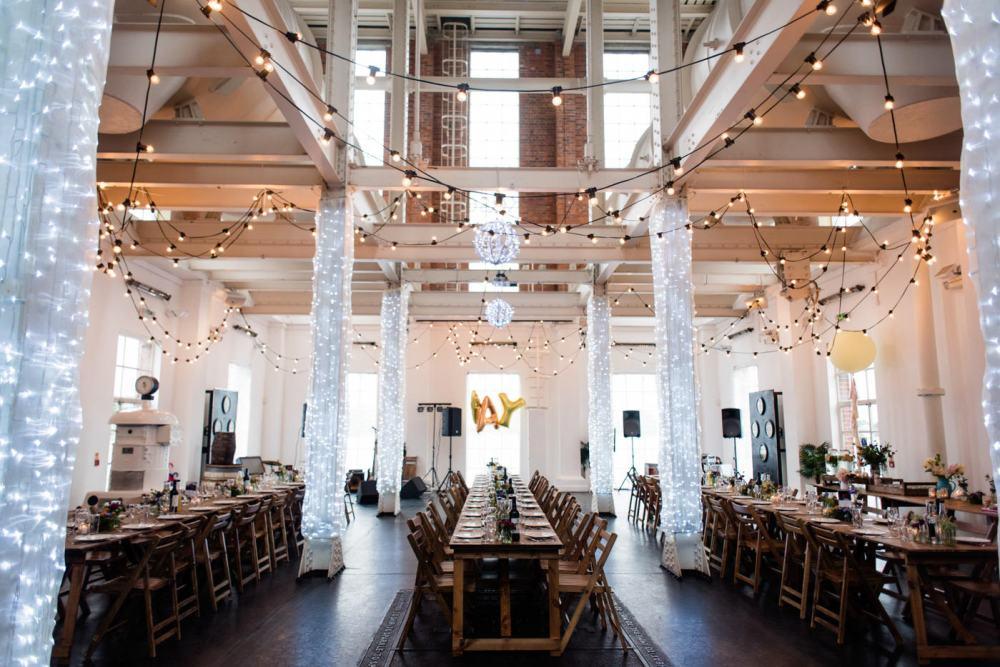 West Reservoir Wedding blank canvas warehouse wedding venue London