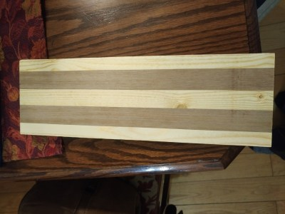 Cribbage board before shaping