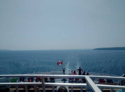 Leaving Tobermory on the ferry
