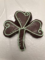 Creme de Menthe Mint Brownie shamrock