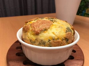 Cheddar cheese and thyme souffle