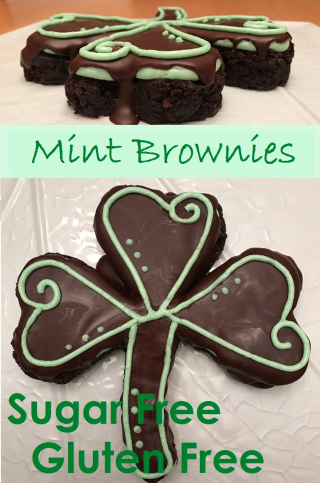 Sugar free and Gluten free delight! Layers of rich brownie, minty creme de menthe mint buttercream, and smooth chocolate ganache.