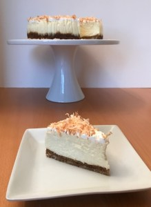 Coconut Cheesecake plate and platter