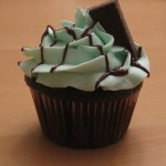 Mint Chocolate Cupcakes with Andes Mints