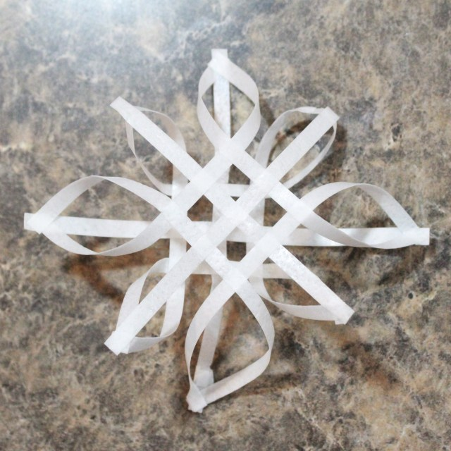 Wafer Paper Snowflake Cake Topper