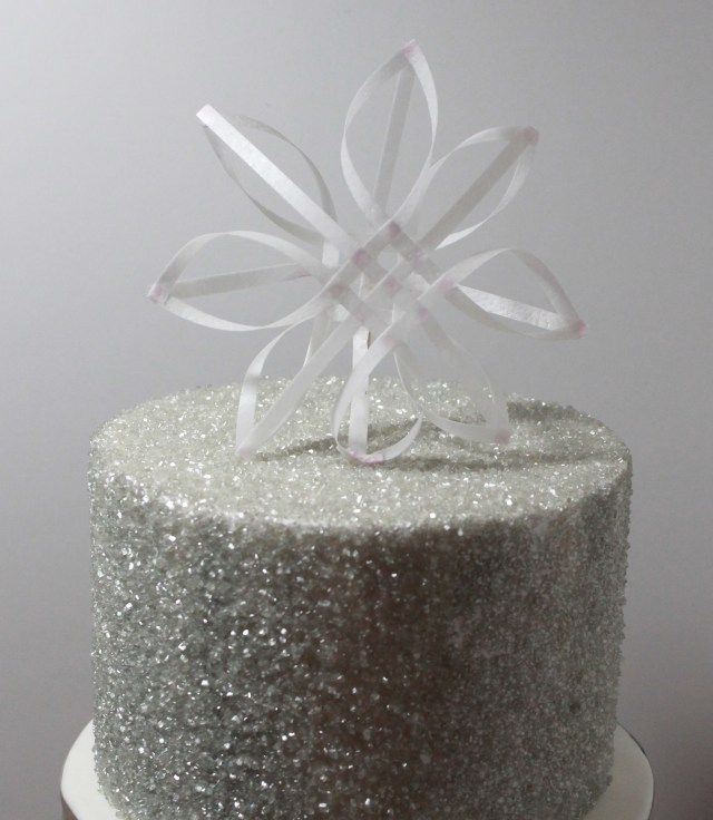 Delicate Wafer Paper Snowflake Cake Topper