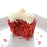 Red Velvet Cupcake with bite