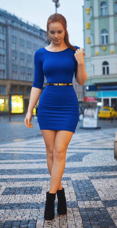 devil blue dress