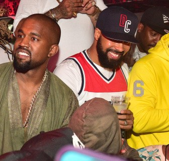 Whine & Dash: Crybaby Begfriend Kanye West Runs Away From Paparazzi Asking About Drake's Alleged Threats [Video]