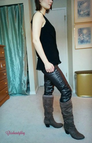December Just Fab Metallic Jeans