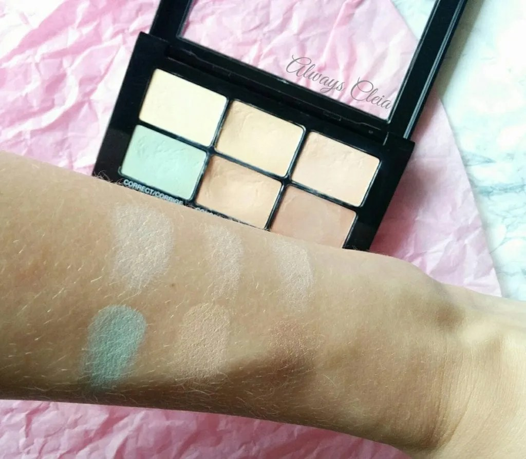 Maybelline Master Camo Color Correcting Kit Swatches