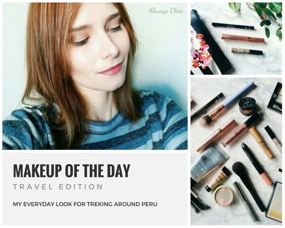 Makeup of the day - Travel