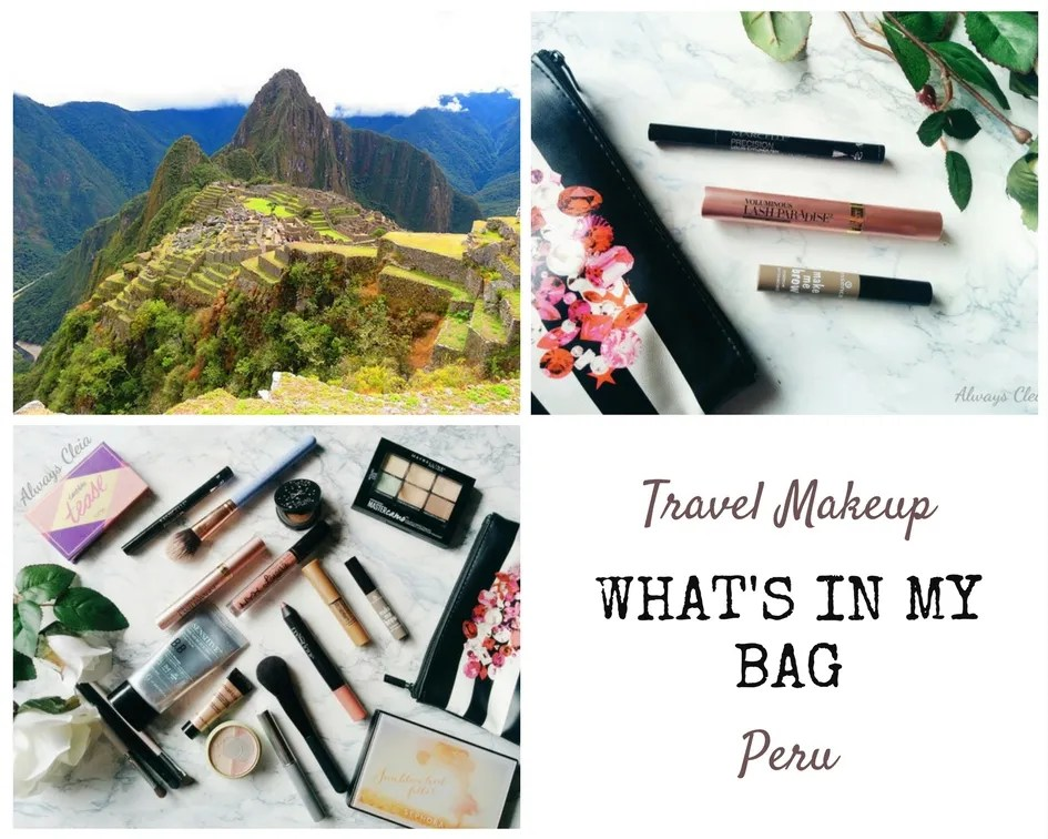 What's in My Makeup Bag - Travel Peru