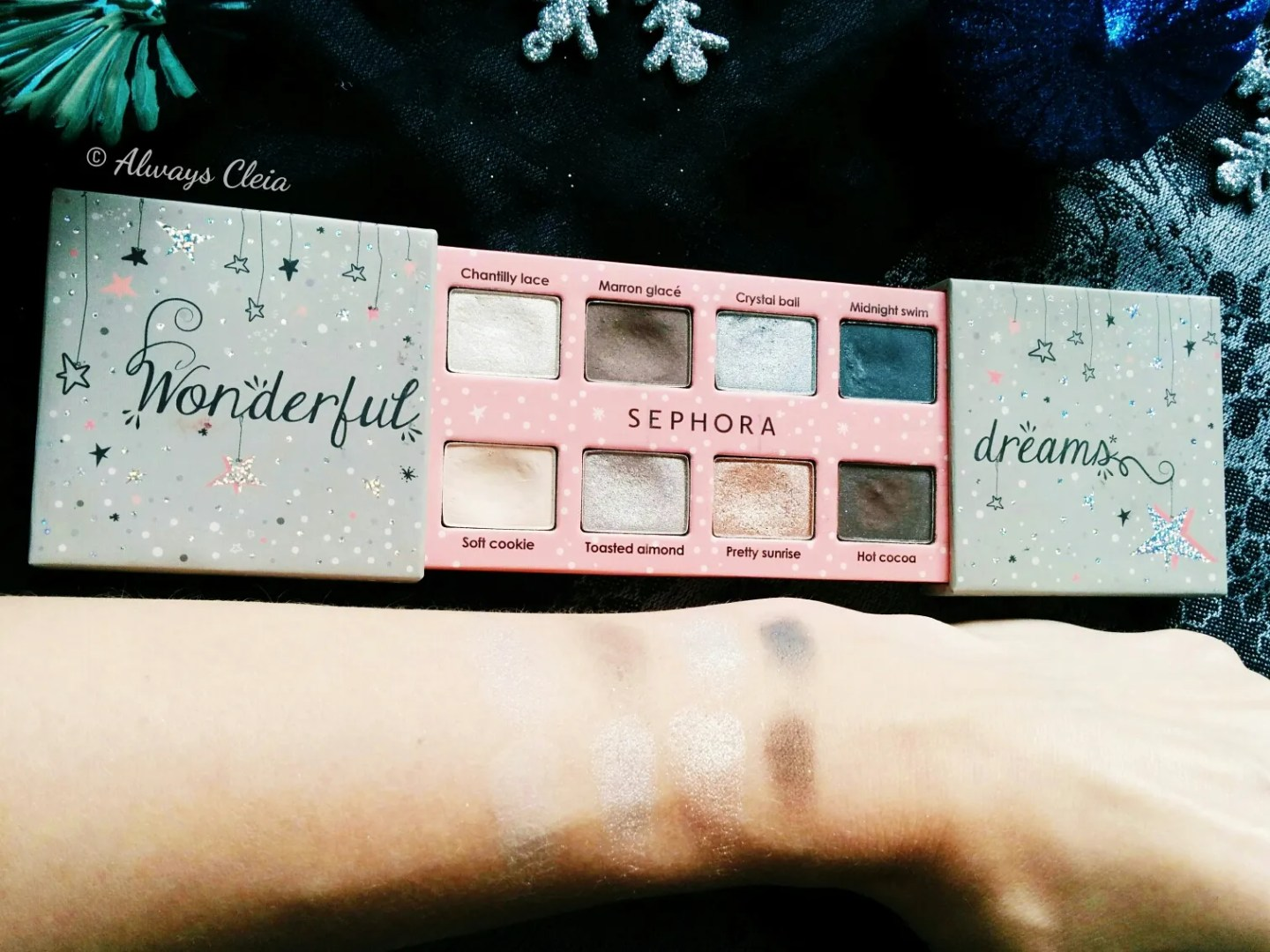 Sephora Wonderful Dreams Palette Swatches