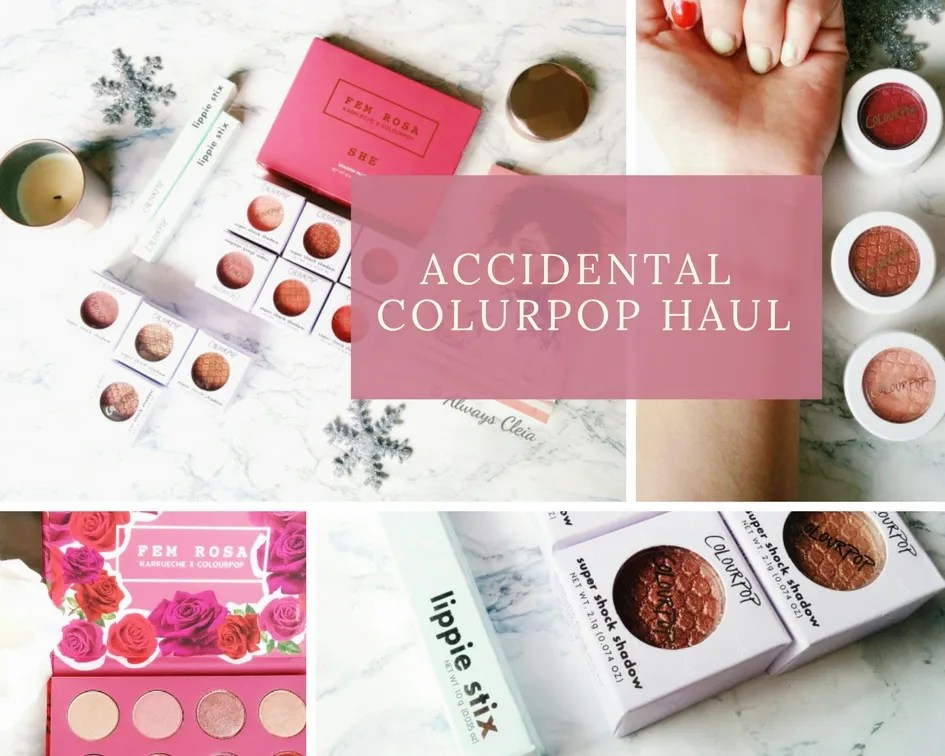 Accidental ColourPop Haul + 1k Giveaway info
