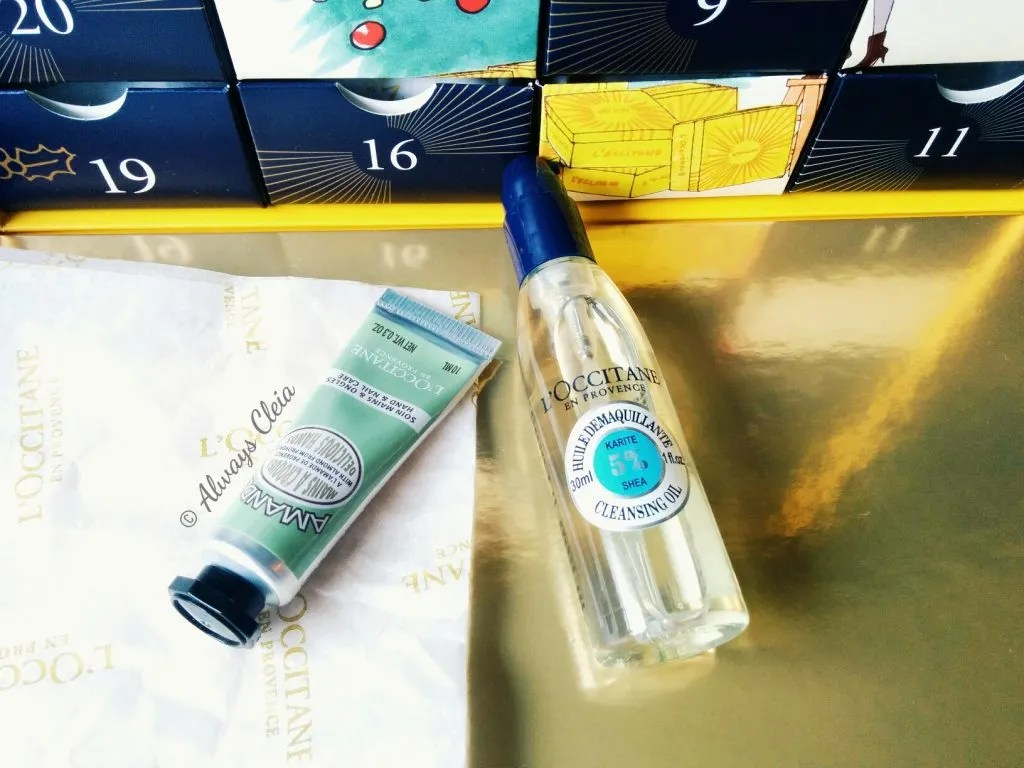L'Occitane Luxury Beauty Advent Calendar Almond Hand Cream and Shea Cleansing Oil