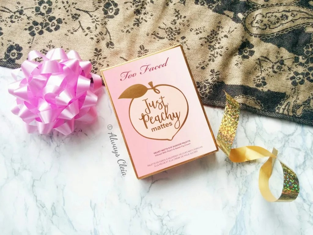 Too Faced Just Peachy Mattes Eyeshadow Palette Packaging
