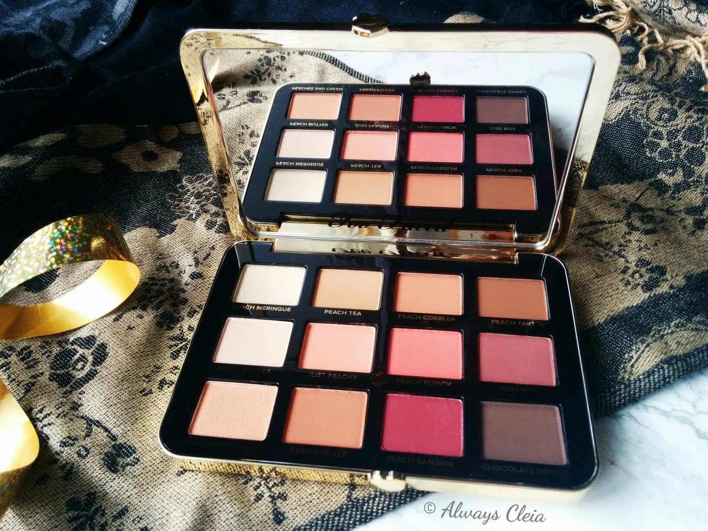 Too Faced Just Peachy Mattes Eyeshadow Palette Shades