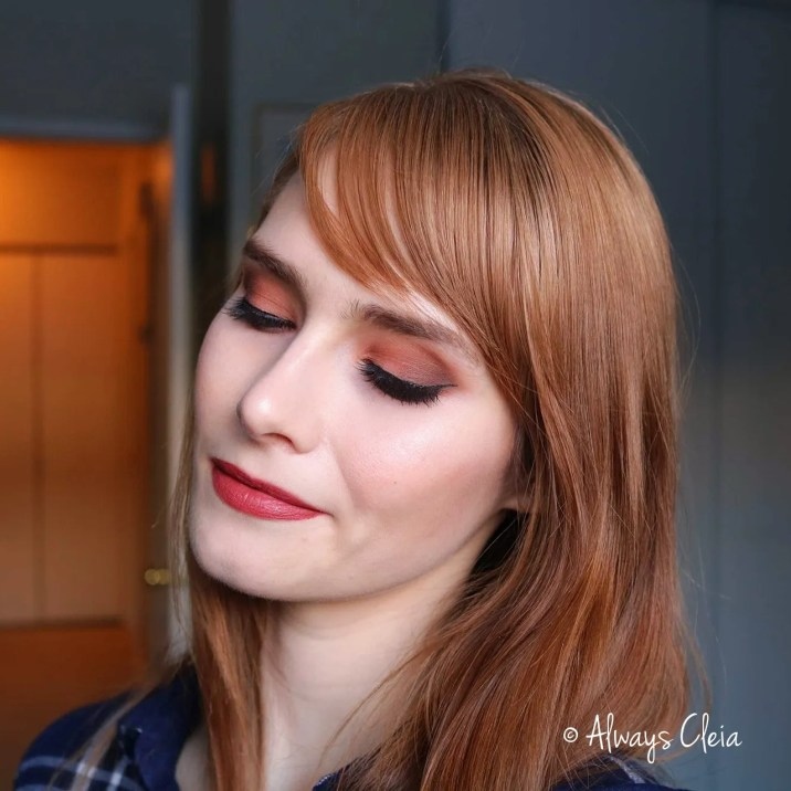Smoky Peach Eyeshadow look