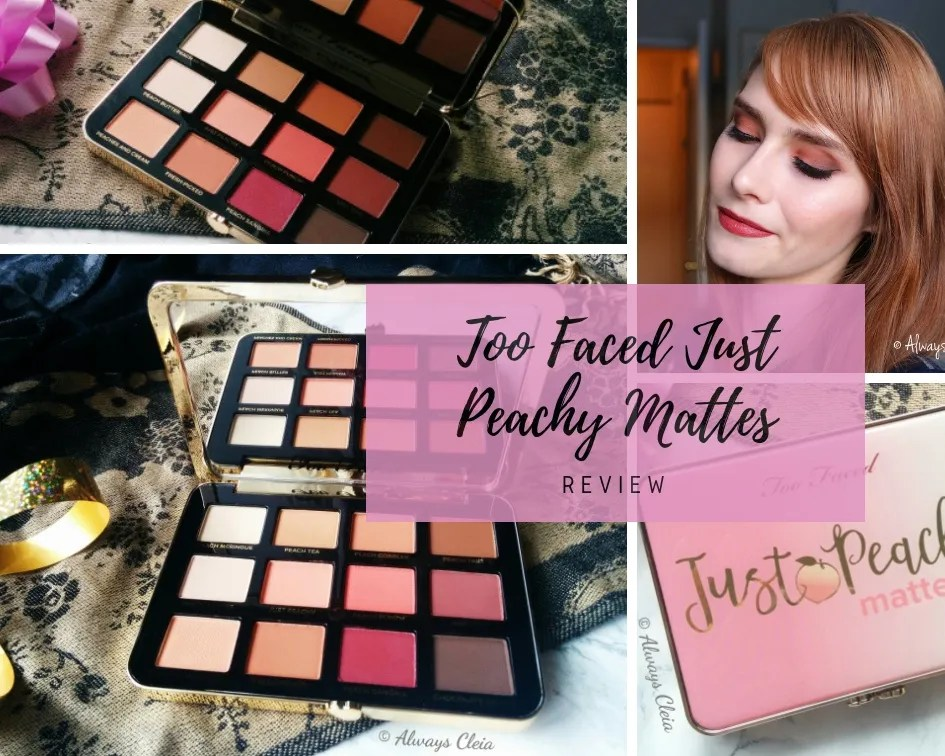 Too Faced Peachy Mattes Review