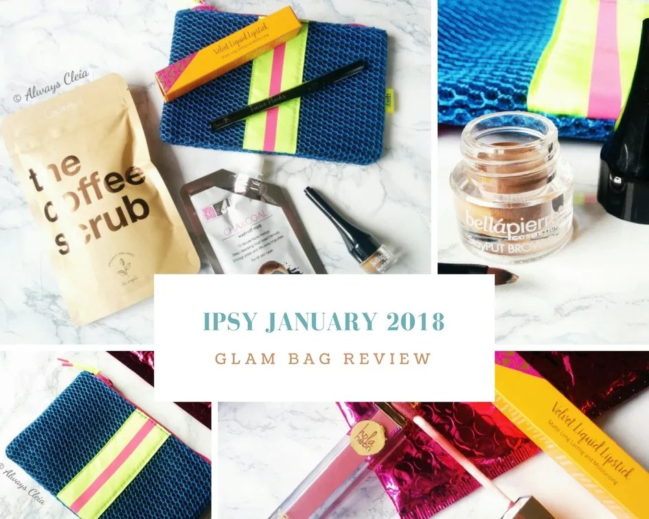 Ipsy January 2018 _Game Face_ Glam Bag