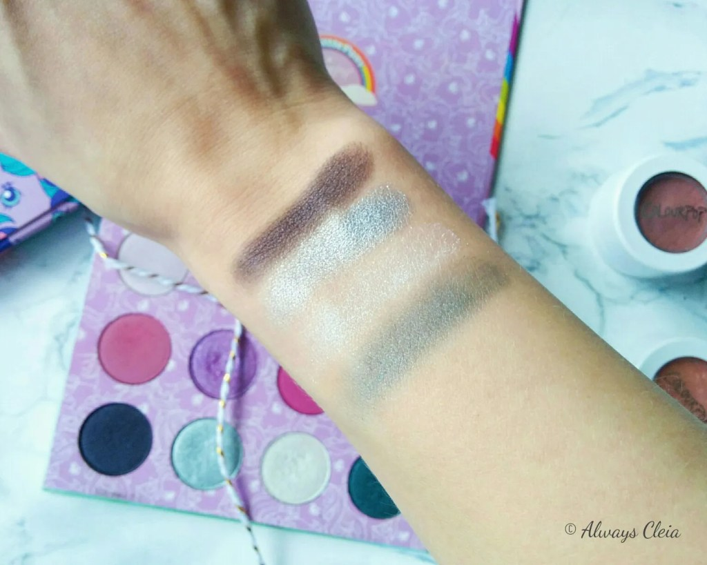 ColourPop My Little Pony Palette Swatches