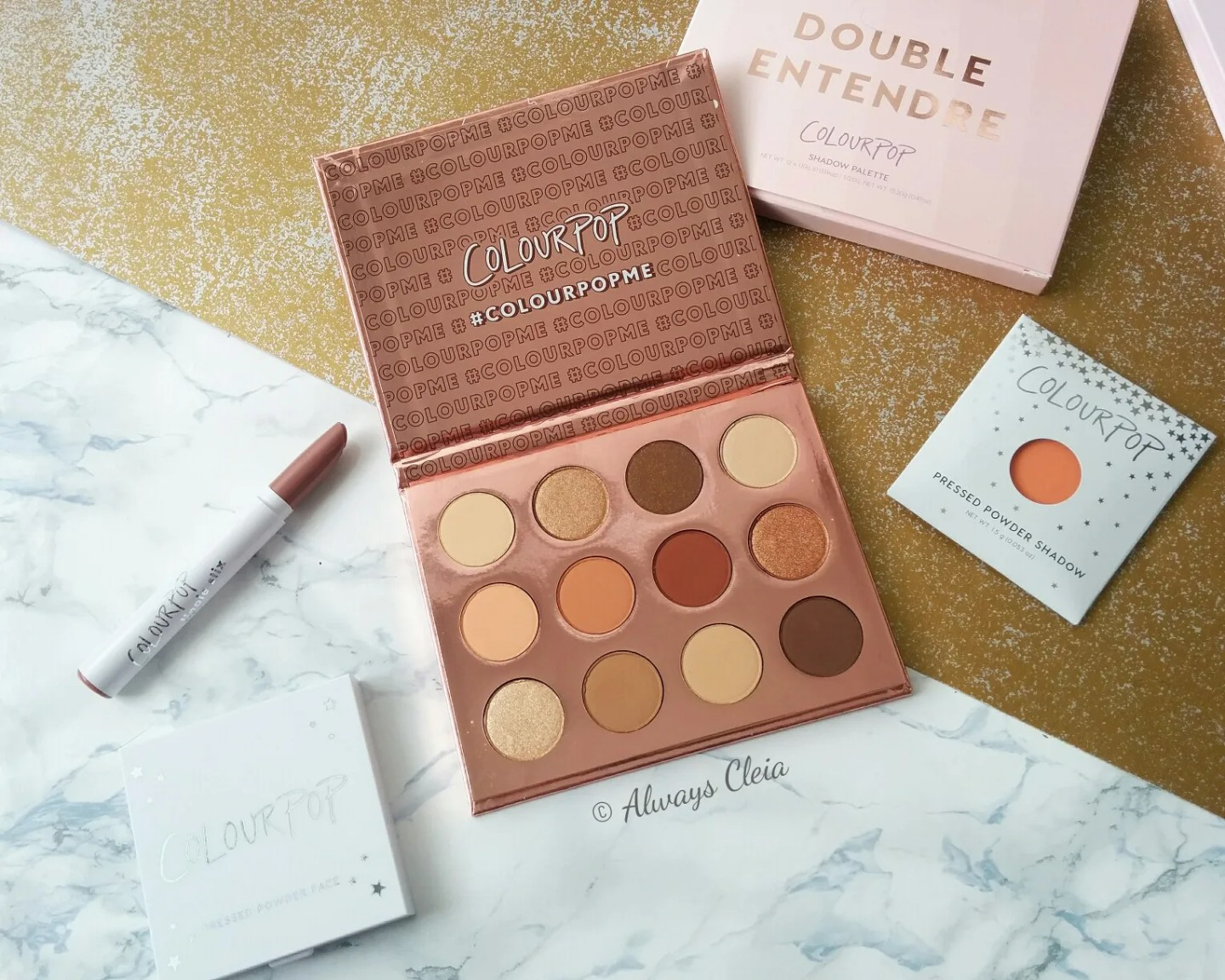 ColourPop Double Entedre Palette Flatlay