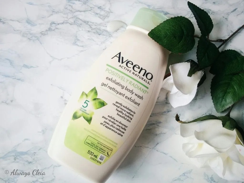 Aveeno Positively Radiant Soy Exfoliating Body Wash