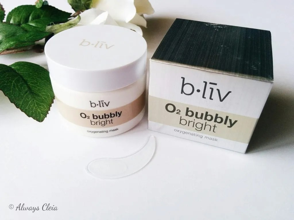 B.Liv O2 Bubbly Bright Oxygenating Mask Review