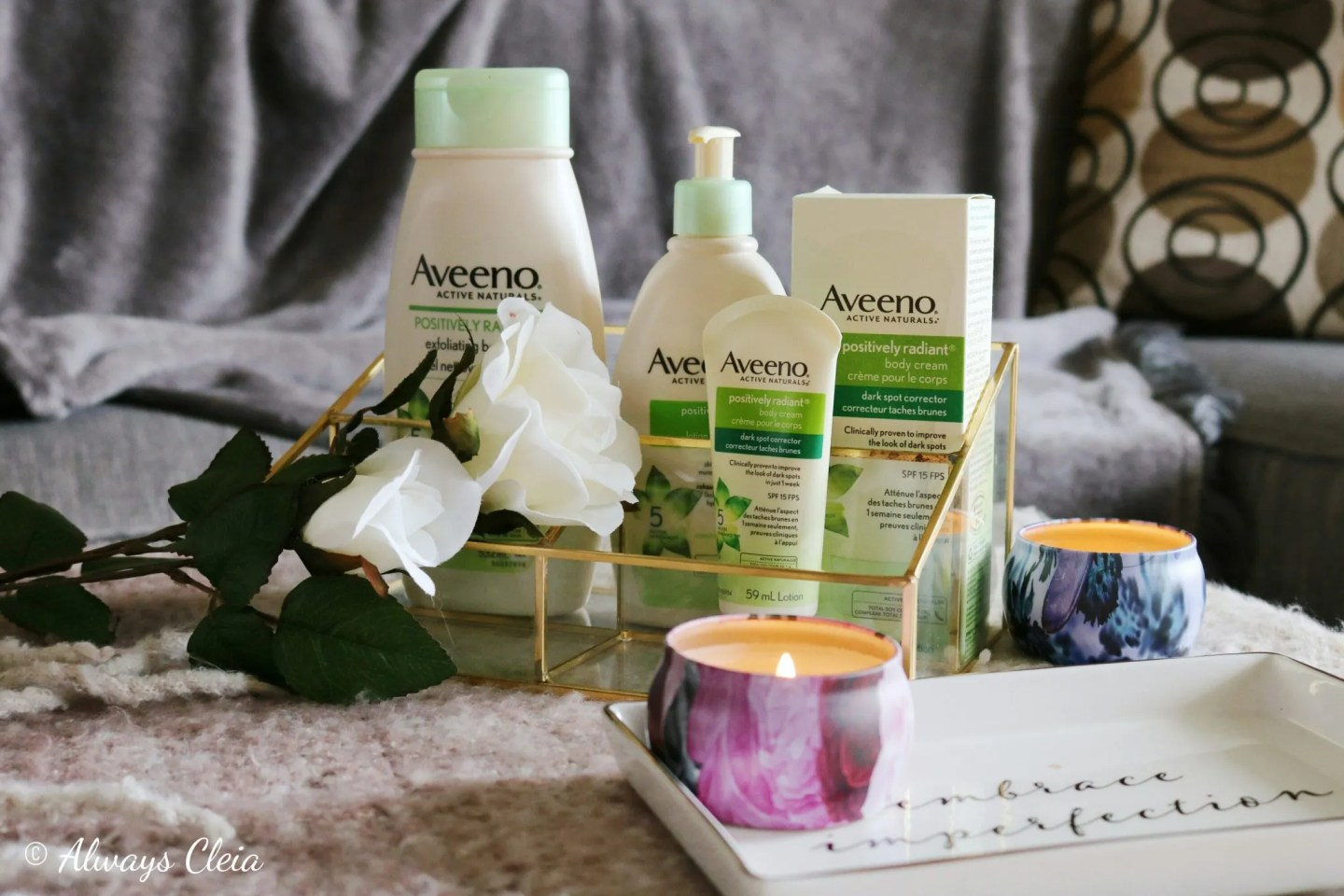 Aveeno Active naturals Positively Radiant Body Care Line Review