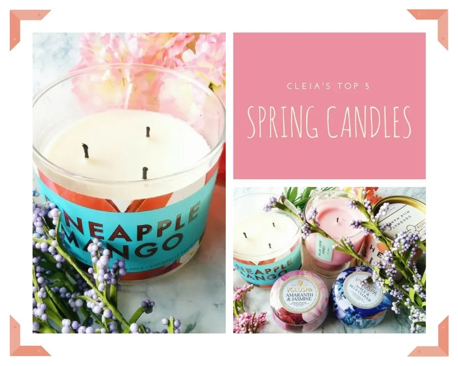 Top 5 Candles for Spring | 2018