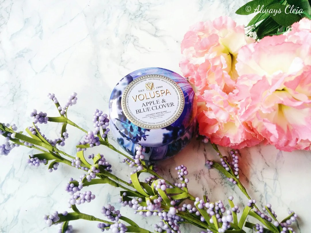 Top 5 Candles For Spring: Voluspa Apple & Blue Clover