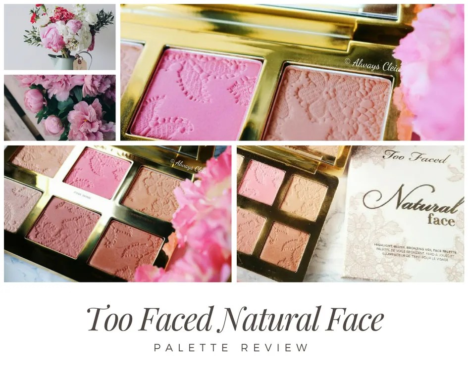 Too Faced Natural Face Palette Review & Swatches