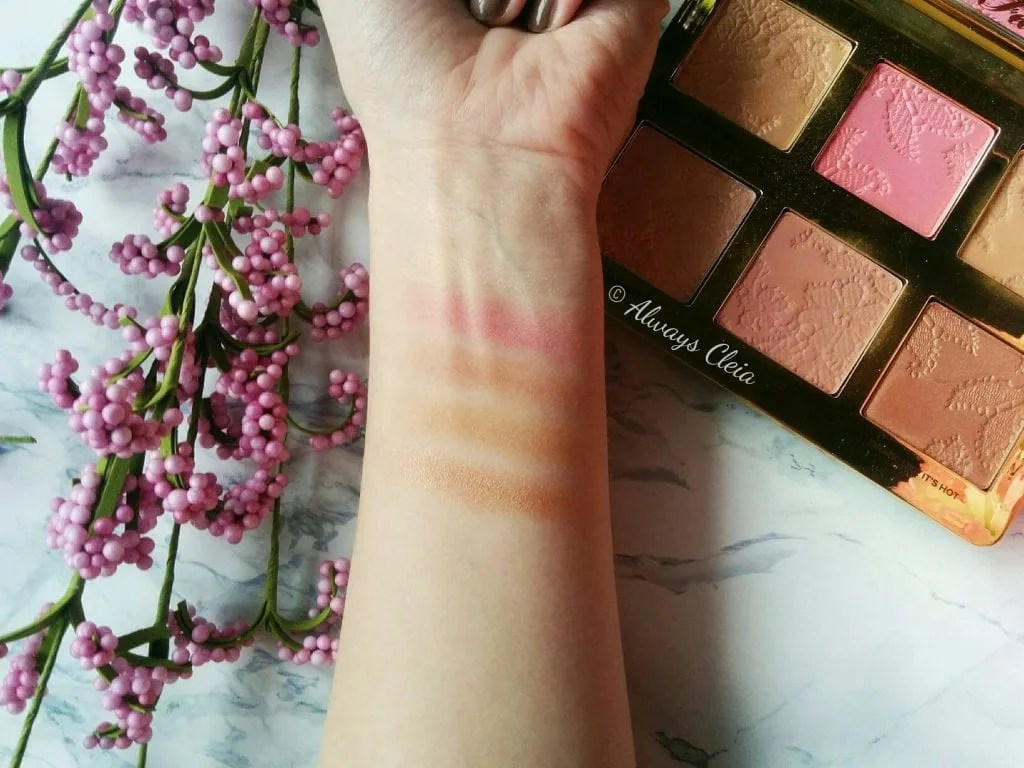 Too Faced Natural Face Palette Swatches