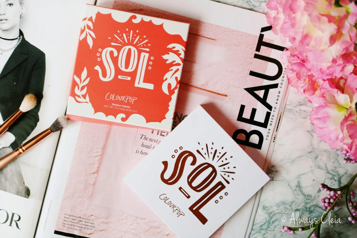 ColourPop Sol Palette Review | Packaging