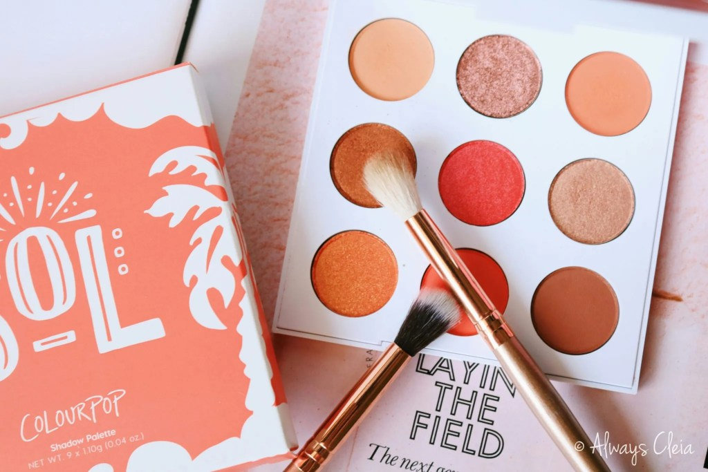 ColourPop Sol Palette Review | Colour Story