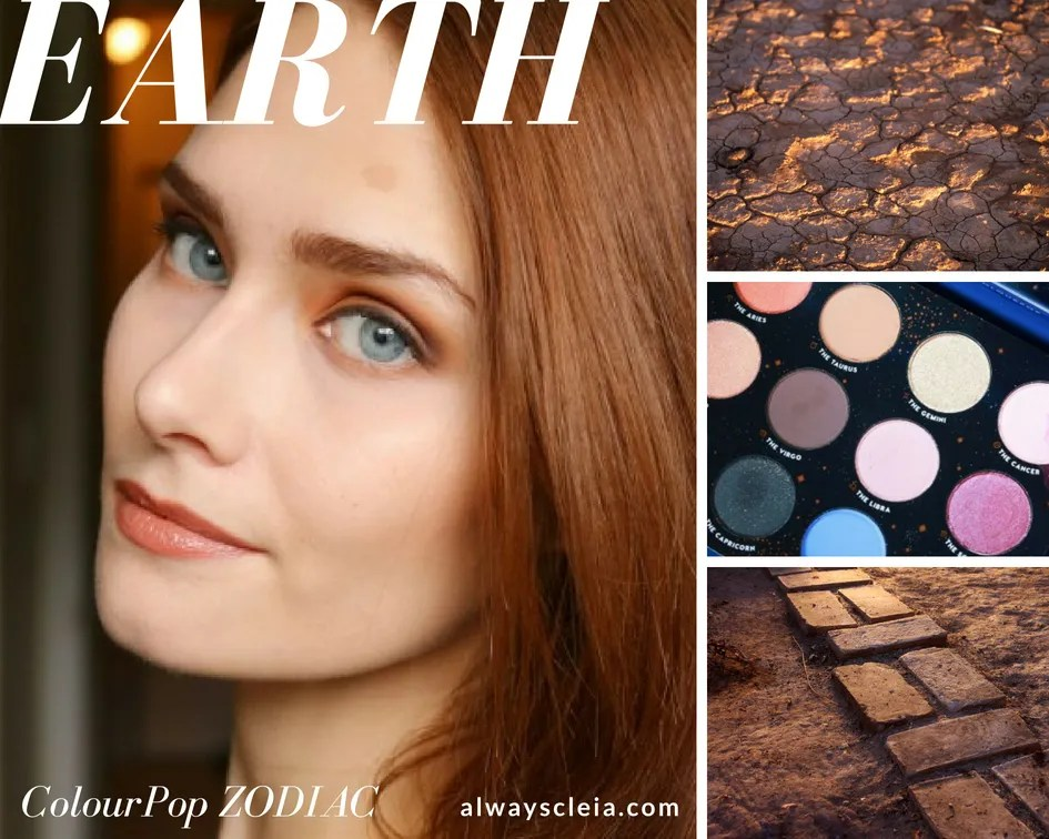 Earth Element: ColourPop Zodiac Palette Makeup Tutorial
