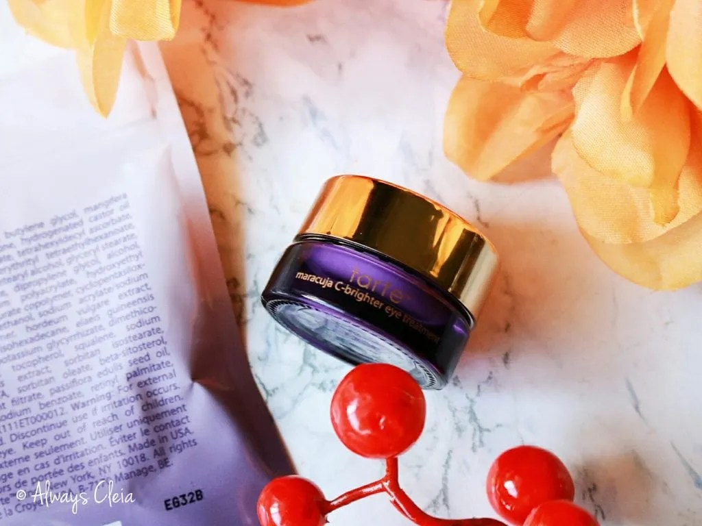 Fall Sephora Haul | Tarte Maracuja C Bright Eye Cream