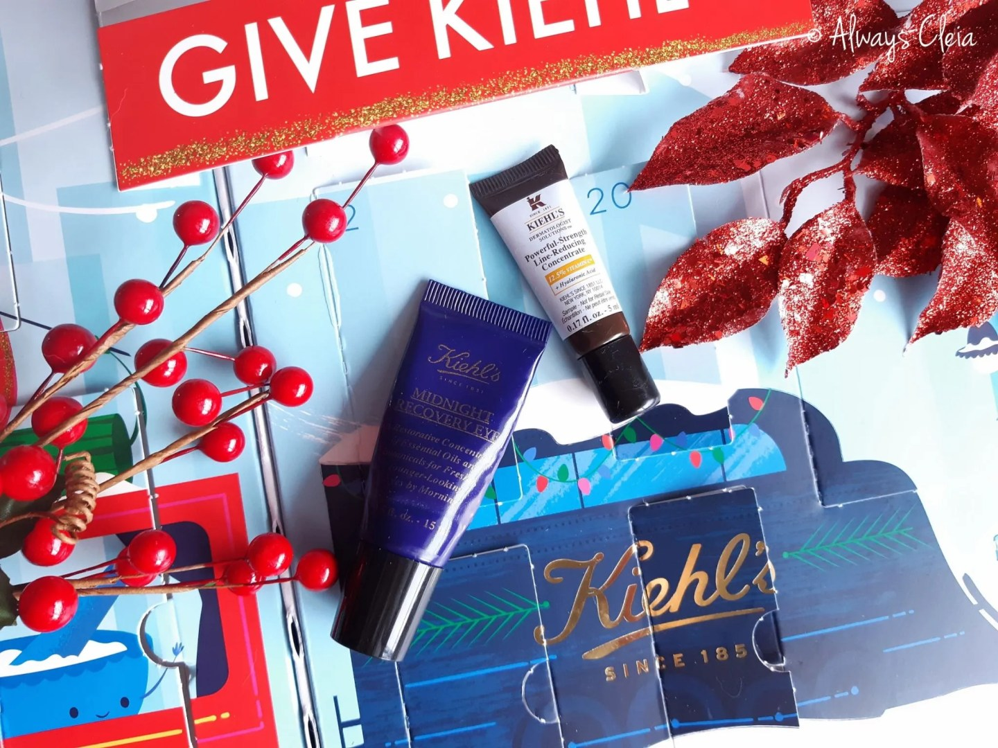 Kiehls Midnight Recovery Eye Cream & Powerful-Strength Line Reducing Concentrate