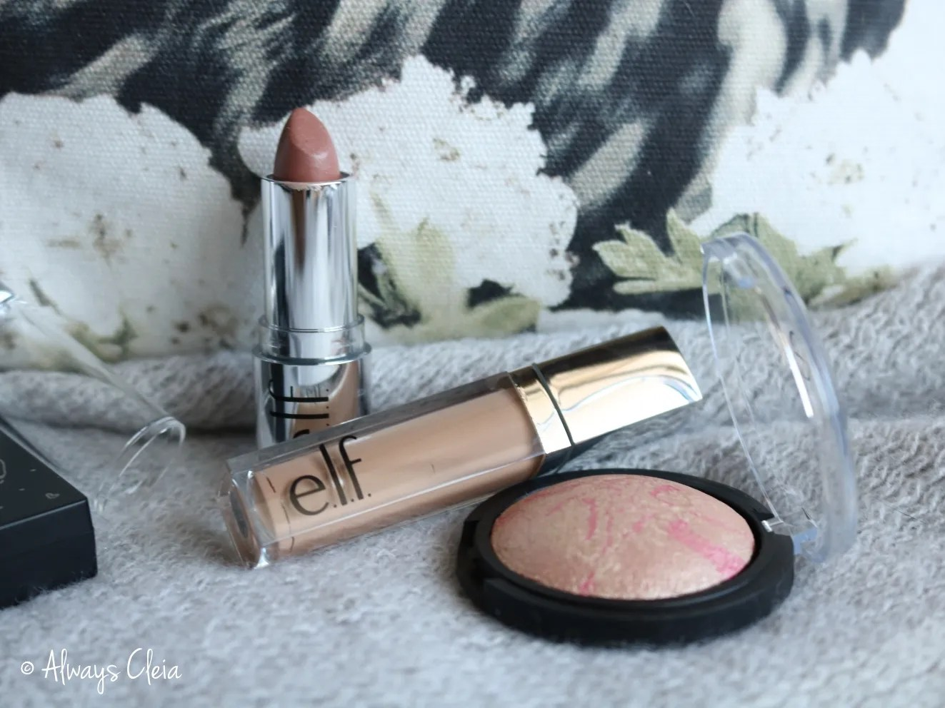 ELF Freebies | Satin Lipstick, Matte Liquid Shadow & Baked Blush