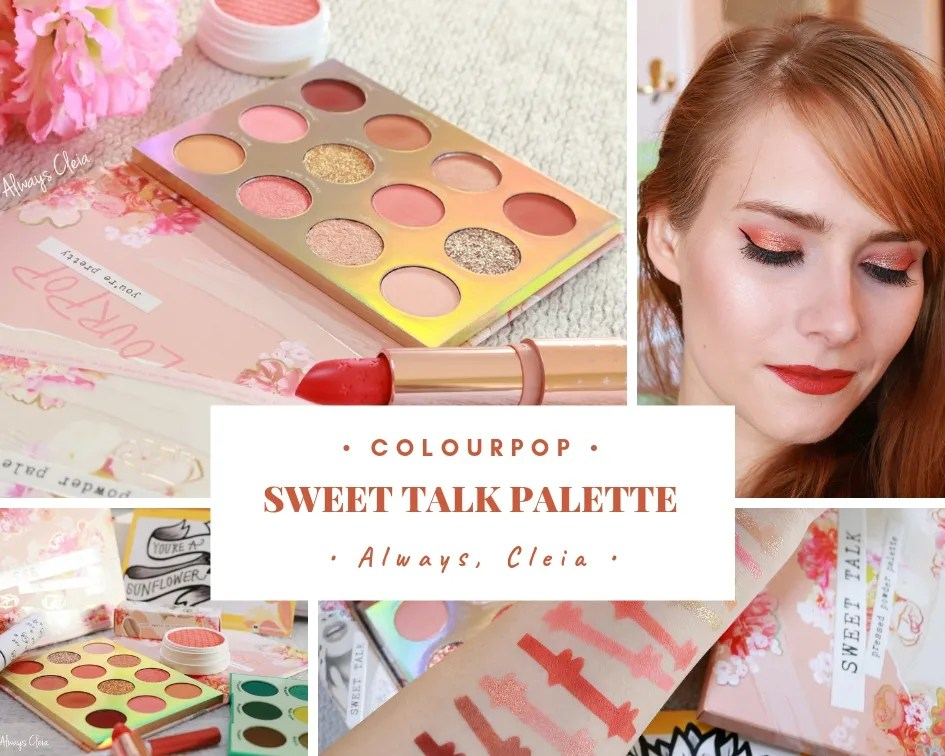 ColourPop Sweet Talk Palette Review + 4 Looks