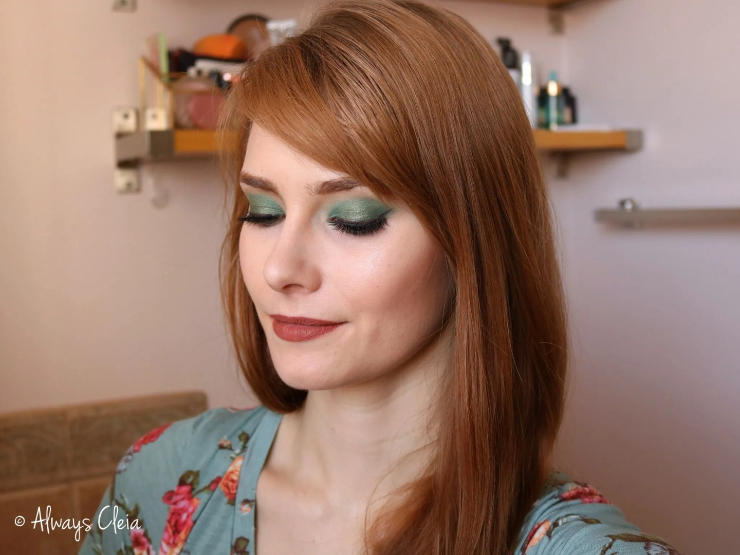 Just My Luck Minty Makeup Look