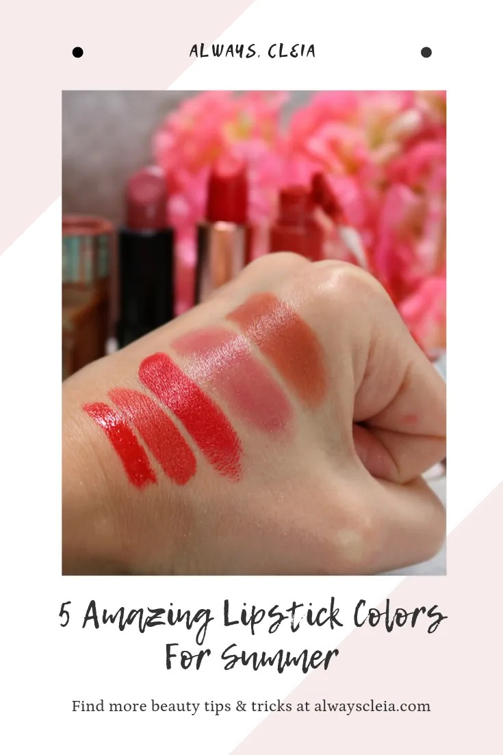 5 Amazing Summer Lipstick Colors