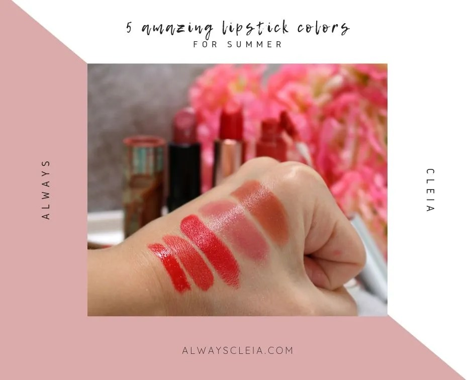 5 amazing lipstick colors for summer