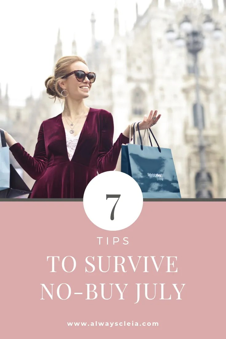 7 Tips to Survive No-Buy July