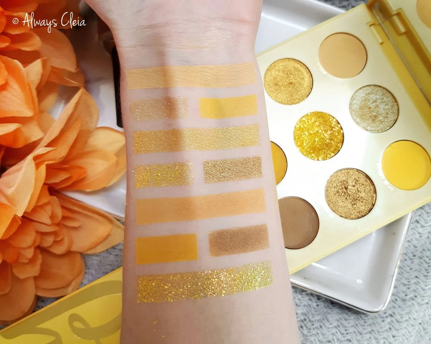 ColorPop Uh Huh Honey Palette Swatches